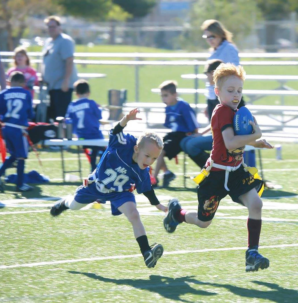 Special to the Pahrump Valley Times Kids under 10 years old who want to play flag football can ...