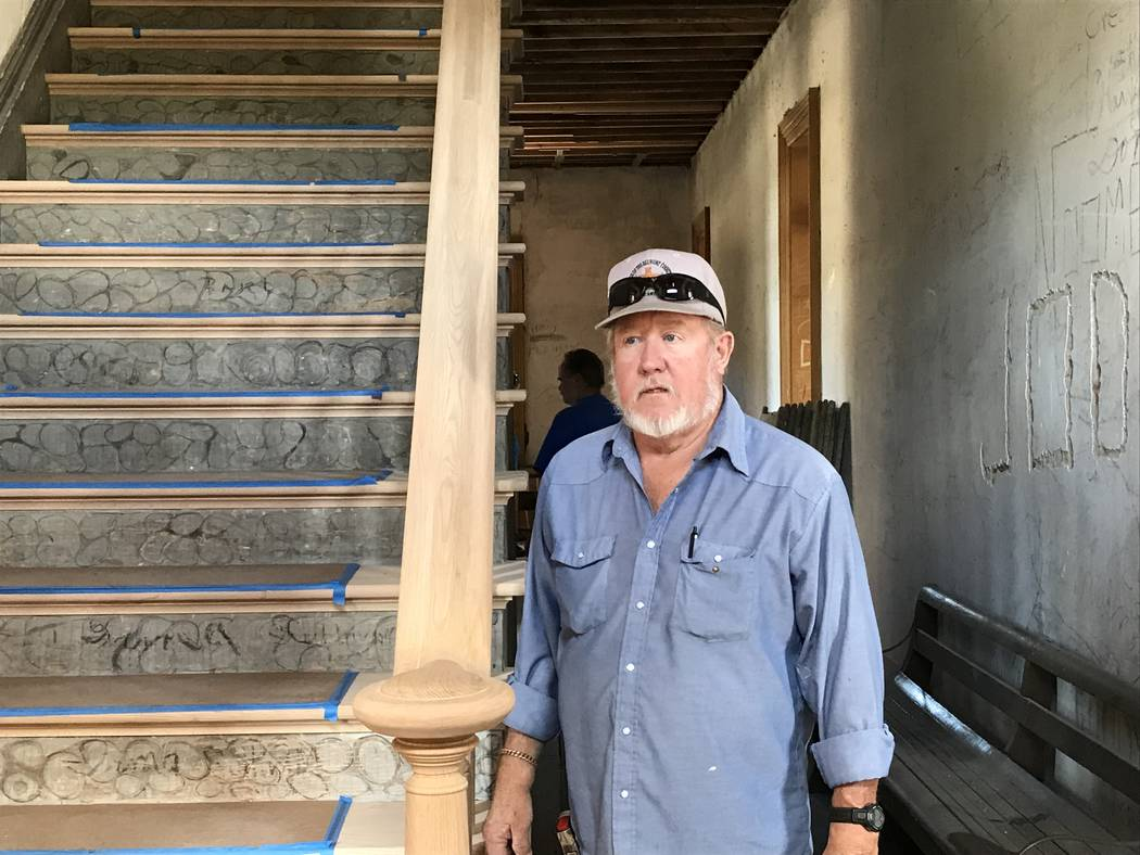 Vern Hee / Special to the Pahrump Valley Times Rick Motis, of the Friends of the Belmont Courth ...