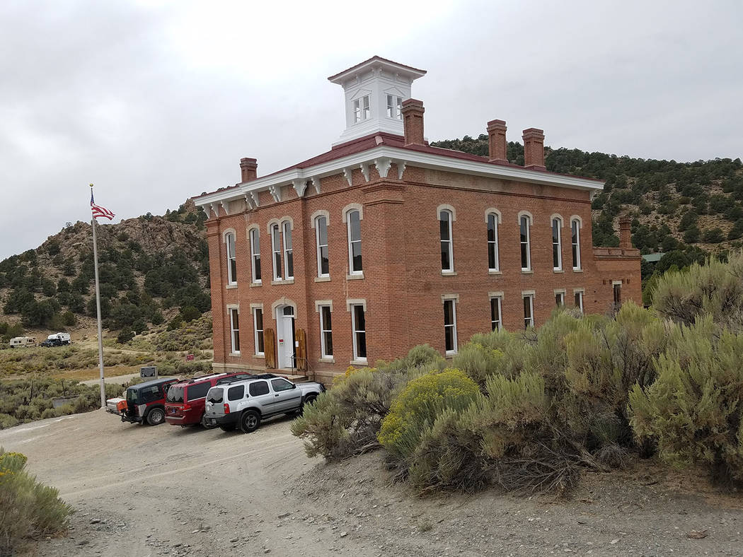 David Jacobs/Pahrump Valley Times A look at the historic Belmont Courthouse in Nye County as sh ...