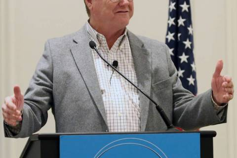 Bizuayehu Tesfaye/Las Vegas Review-Journal U.S. Rep. Mark Amodei, R-Nev., speaks during the La ...