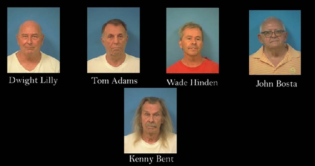 Nye County Sheriff's Office Dwight Lilly, Tom Adams, Wade Hinden, John Bosta and Kenny Bent as ...