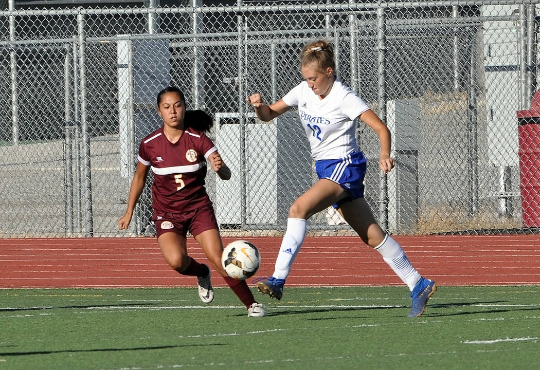 Horace Langford Jr./Pahrump Valley Times Junior Kaylee Vega played on defense Thursday against ...