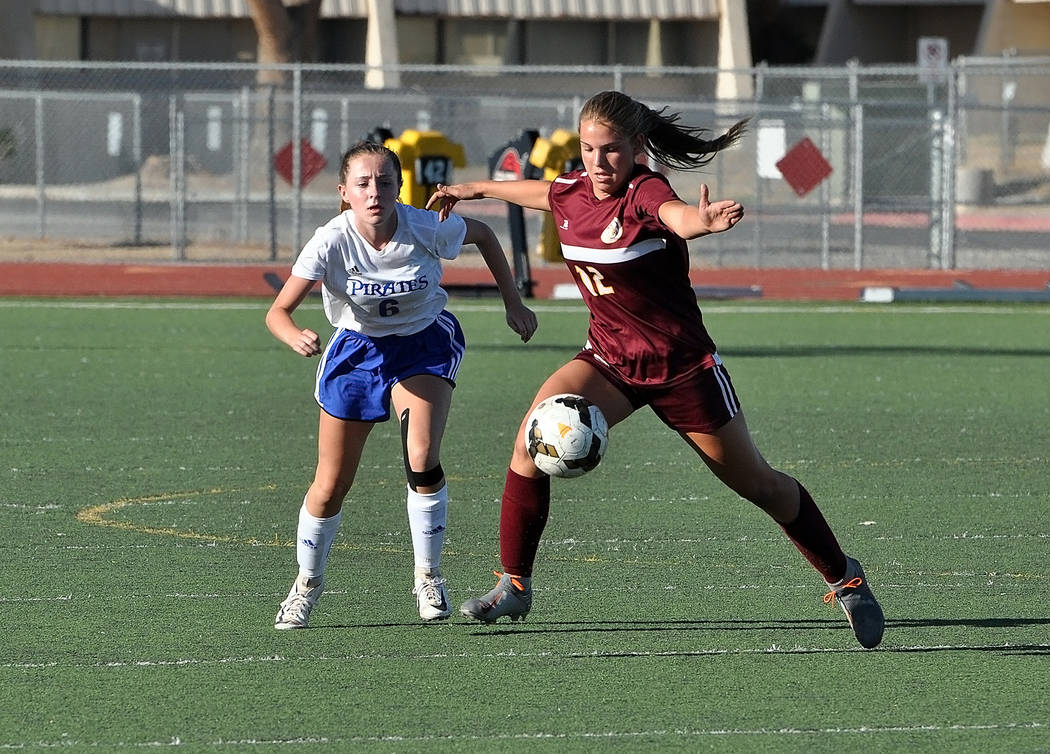 Horace Langford Jr./Pahrump Valley Times Pahrump Valley junior Madelyn Souza assisted on two go ...