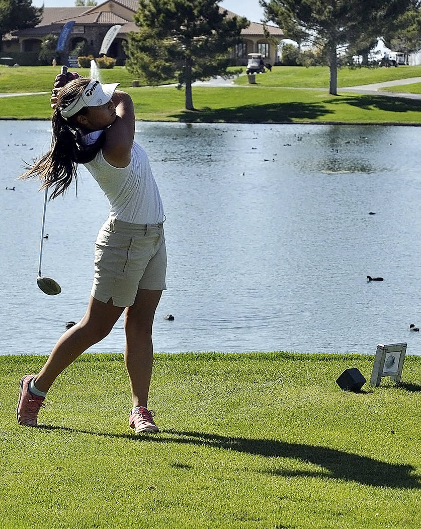 Horace Langford Jr./Pahrump Valley Times Pahrump Valley junior Breanne Nygaard shot 78 to win m ...