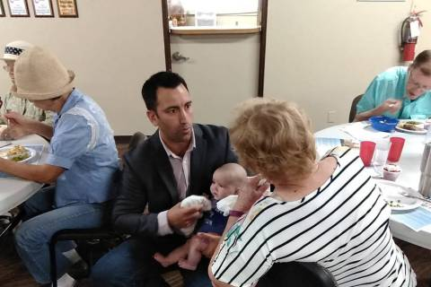 Selwyn Harris/Pahrump Valley Times Nevada District 4 Congressional candidate Charles Navarro s ...