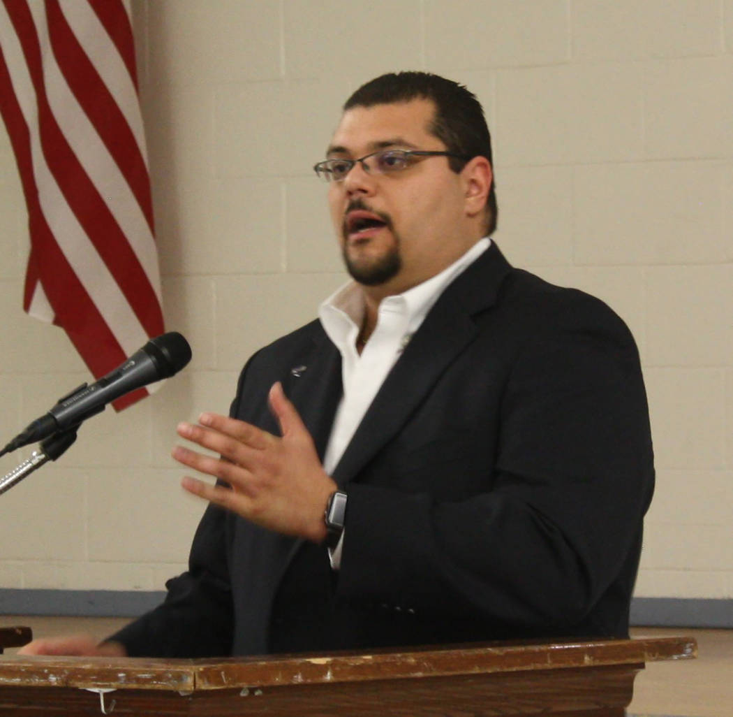 Robin Hebrock/Pahrump Valley Times Nye County Commissioner Leo Blundo as shown in a file photo.