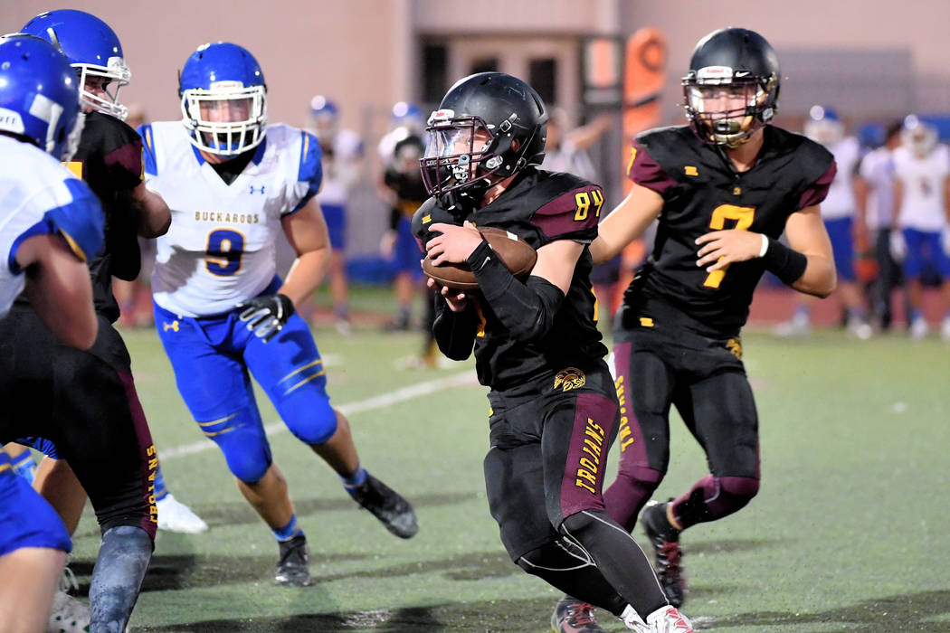 Peter Davis/Special to the Pahrump Valley Times Junior Andrew Avena has rushed for 126 yards in ...
