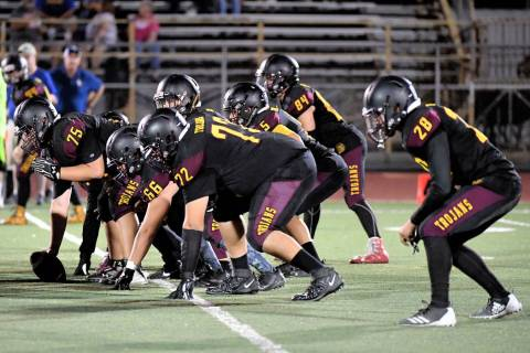 Peter Davis/Special to the Pahrump Valley Times The Pahrump Valley football team has averaged 2 ...
