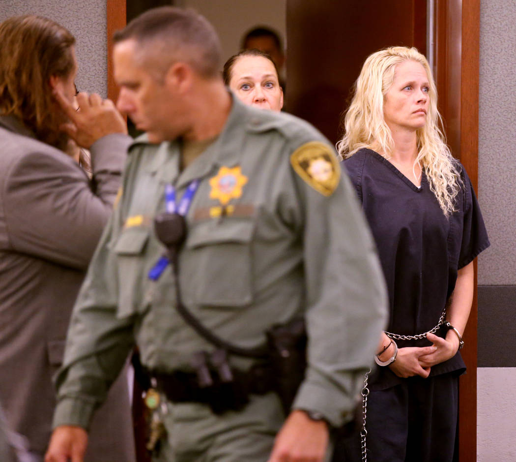 Korey Hooper, right, and Norma Snyder in court at the Regional Justice Center in Las Vegas on ...
