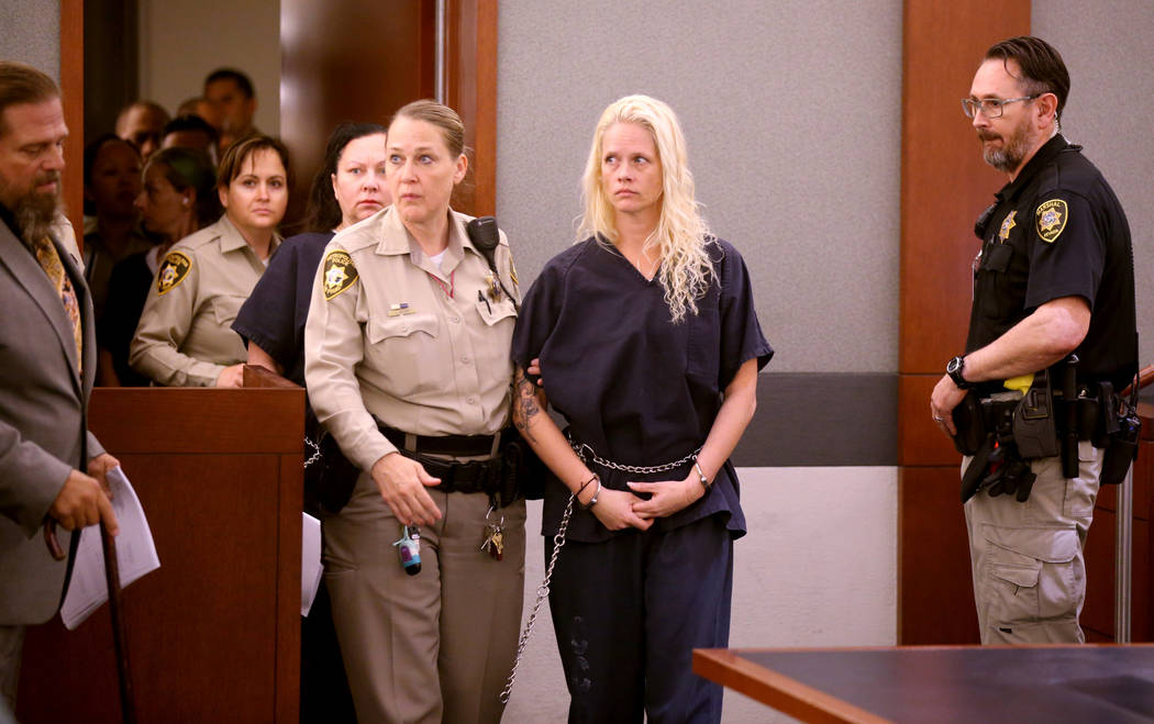 "Korey Hooper, from right, Norma Snyder and Dorothy ""Dot"" Mitchell appear in court at the Region ..."
