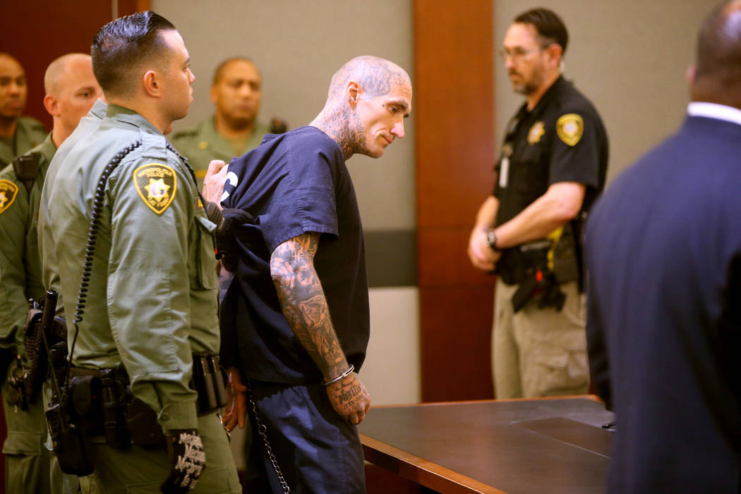 Richard Manning appears in court at the Regional Justice Center in Las Vegas on Thursday, Aug. ...