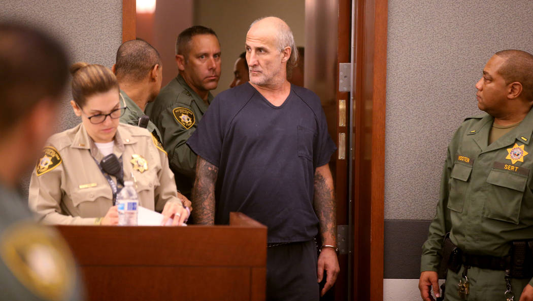 "Michael ""Sully"" Sullivan looks back at the gallery while appearing in court at the Regional Jus ..."