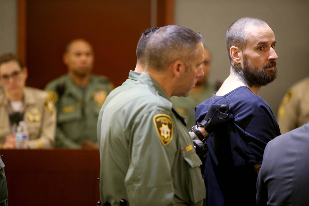 """Christopher """"Bullwinkle"""" Ashoff appears in court at the Regional Justice Center in Las Vegas on ..."""