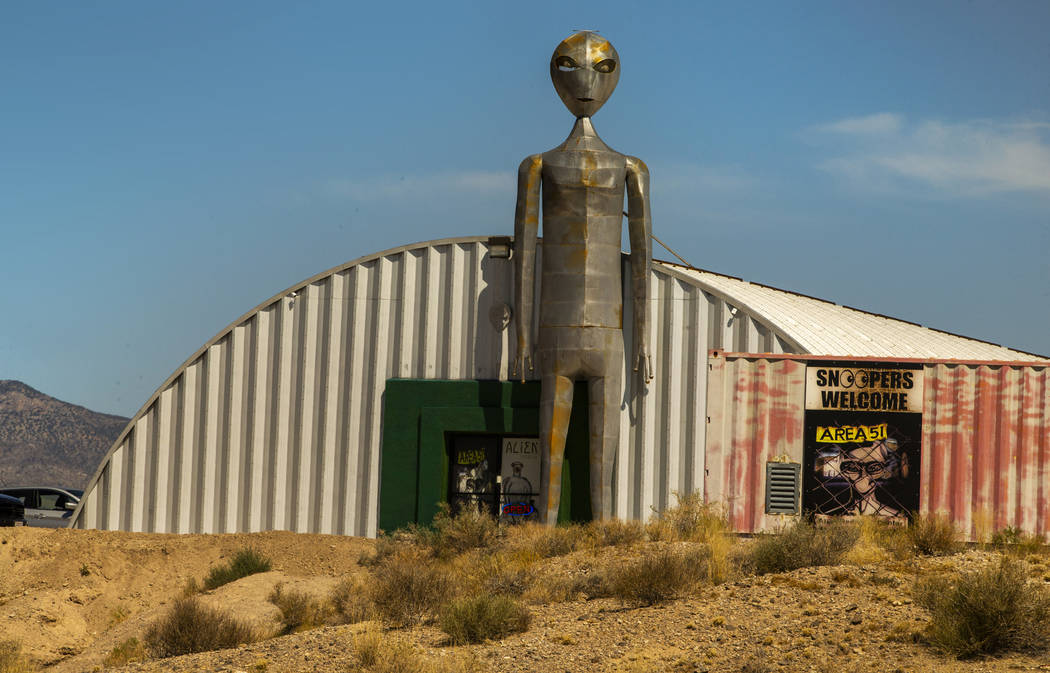 The Alien Research Center is seen, Tuesday, Aug. 27, 2019, in Hiko. On Tuesday, the Lincoln Cou ...