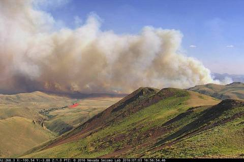 University of Nevada, Reno The Nevada BLM ALERTWildfire camera system was used successfully in ...