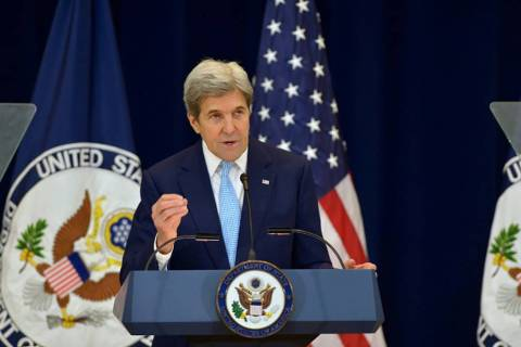 U.S. State Department photo website John Kerry as shown in a 2016 photo from the U.S. State Dep ...