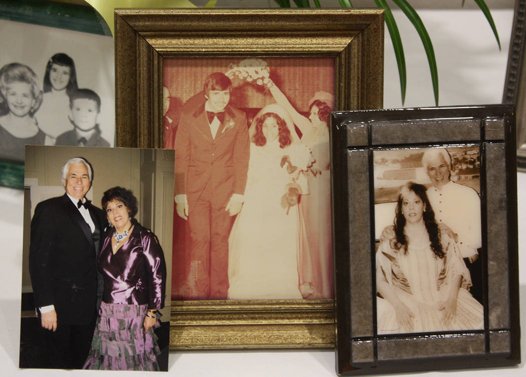 Robin Hebrock/Pahrump Valley Times Photographs of Tony DeMeo and his wife Linda were on display ...