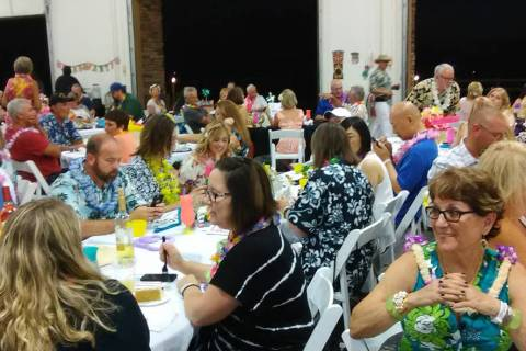 Selwyn Harris/Pahrump Valley Times In this file photo, a huge crowd of CASA Luau attendees is s ...