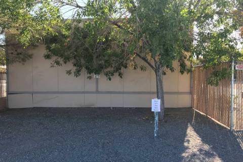 Jeffrey Meehan/Pahrump Valley Times Future space for a rock garden, near the front of the NyE C ...