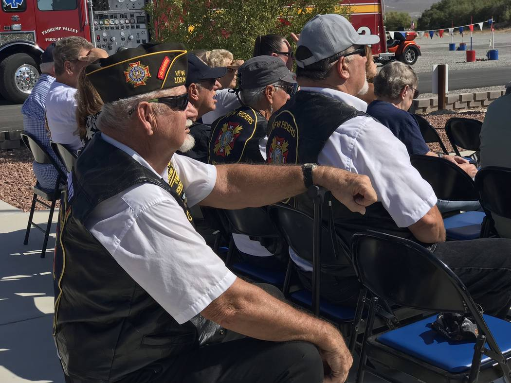 Jeffrey Meehan/Pahrump Valley Times Military veterans and individuals from the public attended ...