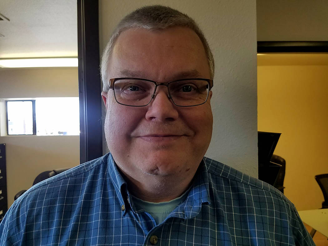 David Jacobs/Pahrump Valley Times Sports Editor Tom Rysinski as shown in a photo in 2018. Rysi ...