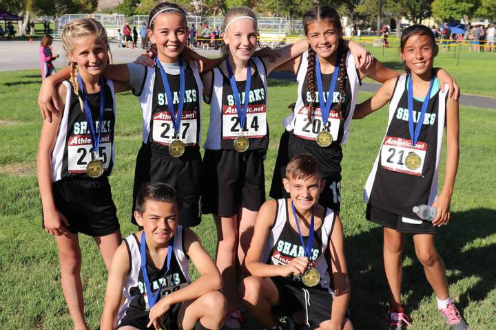 Amy Veloz/Special to the Pahrump Valley Times Seven Rosemary Clarke Middle School cross country ...