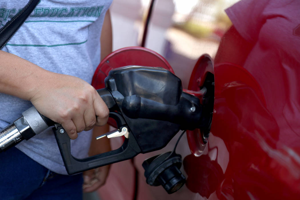 Michael Blackshire/Las Vegas Review-Journal Pump prices in the West Coast region, including Ne ...