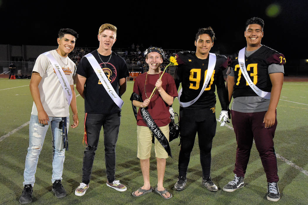 Peter Davis/Special to the Pahrump Valley Times Pahrump Valley High School homecoming king Asht ...