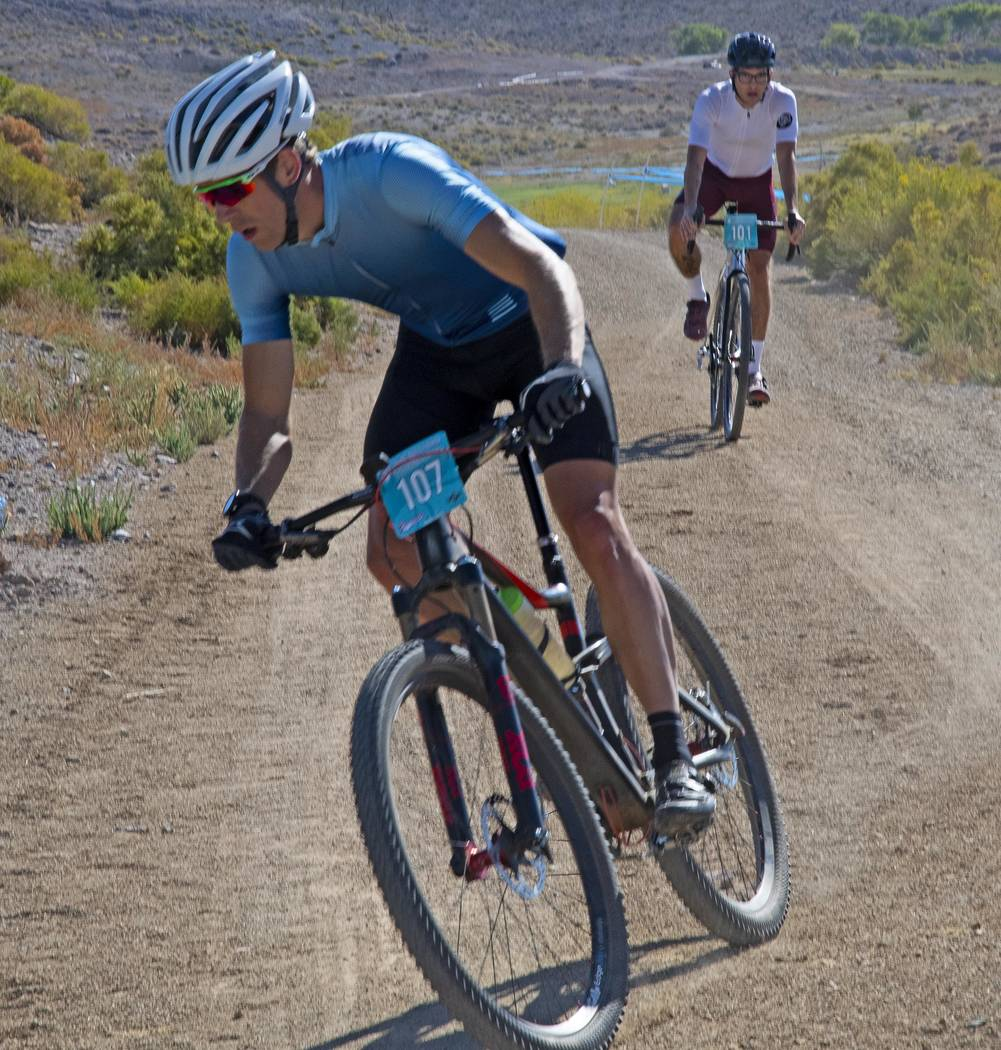 Richard Stephens/Special to the Pahrump Valley Times Unidentified riders maneuver the course at ...