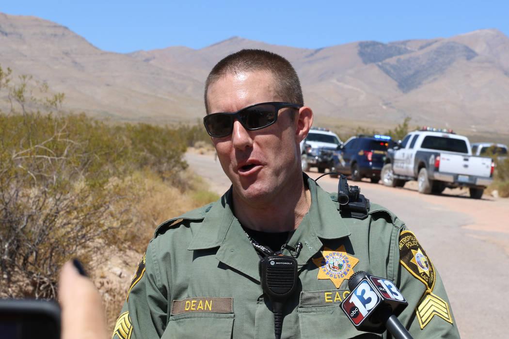 Metro spokesperson Sgt. Jeff Dean addresses the media near the crash site of a hot air balloon ...