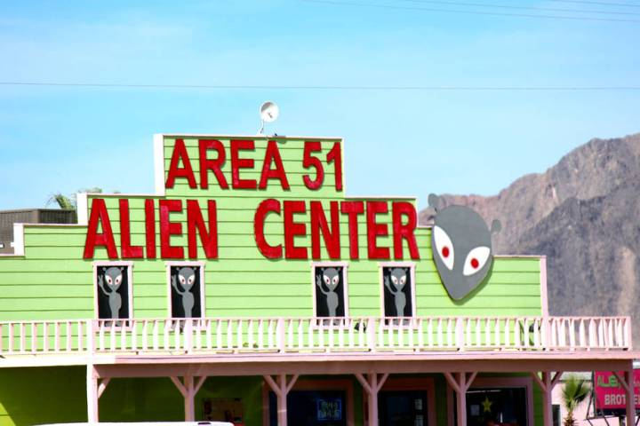 Jeffrey Meehan/Pahrump Valley Times Area 51 Alien Center in Amargosa Valley was the initial lo ...