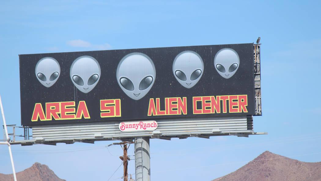Jeffrey Meehan/Pahrump Valley Times The Area 51 Alien Center in Amargosa Valley was the origin ...