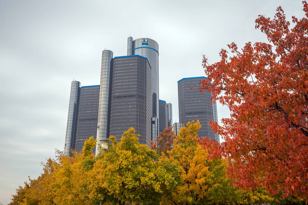 Getty Images The General Motors Renaissance Center in Detroit Michigan on November 2016. Over ...
