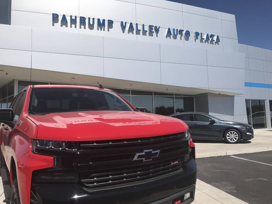 Jeffrey Meehan/Pahrump Valley Times The Pahrump Valley Auto Plaza, which sells new vehicles fro ...