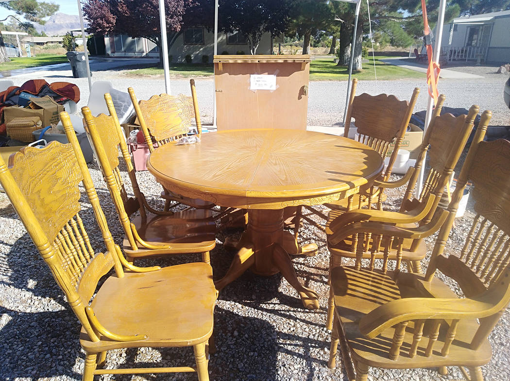 Selwyn Harris/Pahrump Valley Times Great deals can be had on countless items including furnitur ...