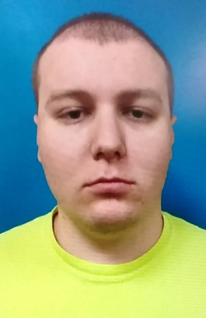 Photo courtesy of the Nye County Detention Center Anthony Dinkel, 21, is facing charges after a ...