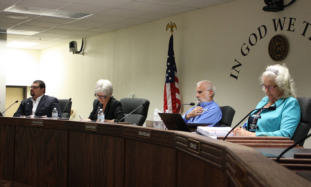 Robin Hebrock/Pahrump Valley Times The Nye County Commission unanimously approved a letter of i ...