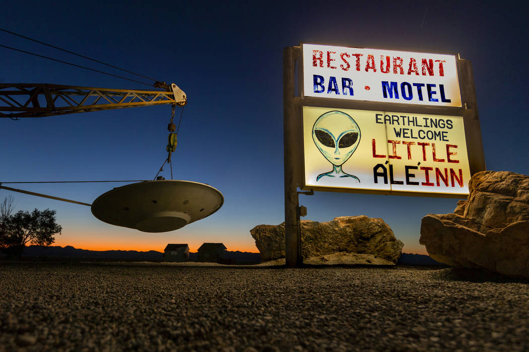 """L.E. Baskow/Las Vegas Review-Journal The Little A'Le'Inn property beside the """"Extraterrestrial ..."""