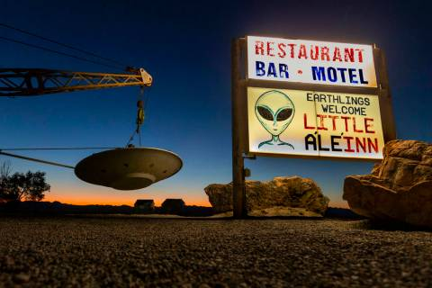 "L.E. Baskow/Las Vegas Review-Journal The Little A'Le'Inn property beside the ""Extraterrestrial ..."