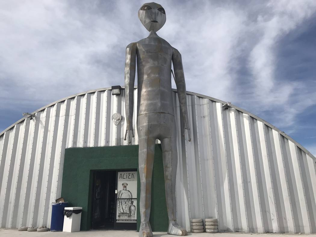 Jeffrey Meehan/Pahrump Valley Times The Alien Research Center on State Route 375 held a two-day ...