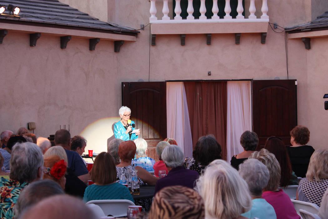 Robin Hebrock/Pahrump Valley Times Ms. Senior Golden Years founder B.J. Hetrick-Irwin is pictur ...