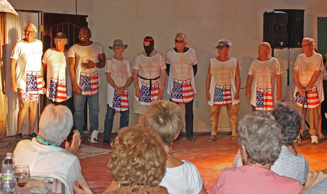 Robin Hebrock/Pahrump Valley Times Mr. Hunk from Pahrump contestants, from left to right, were ...