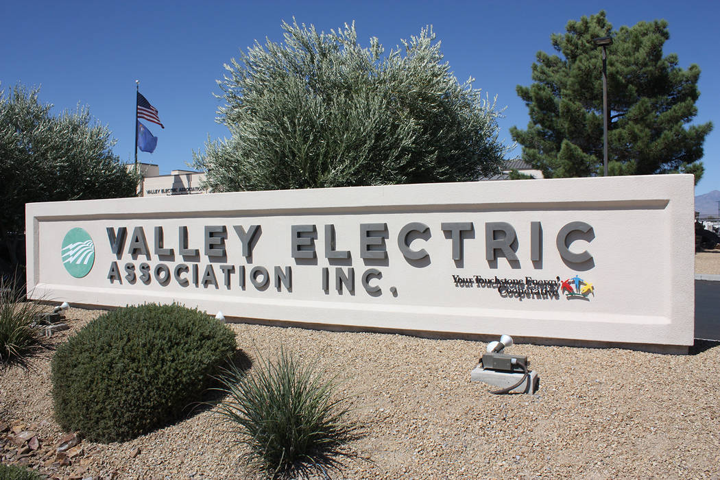 Robin Hebrock/Pahrump Valley Times Terrie D'Antonio, District 5 director for Valley Electric As ...