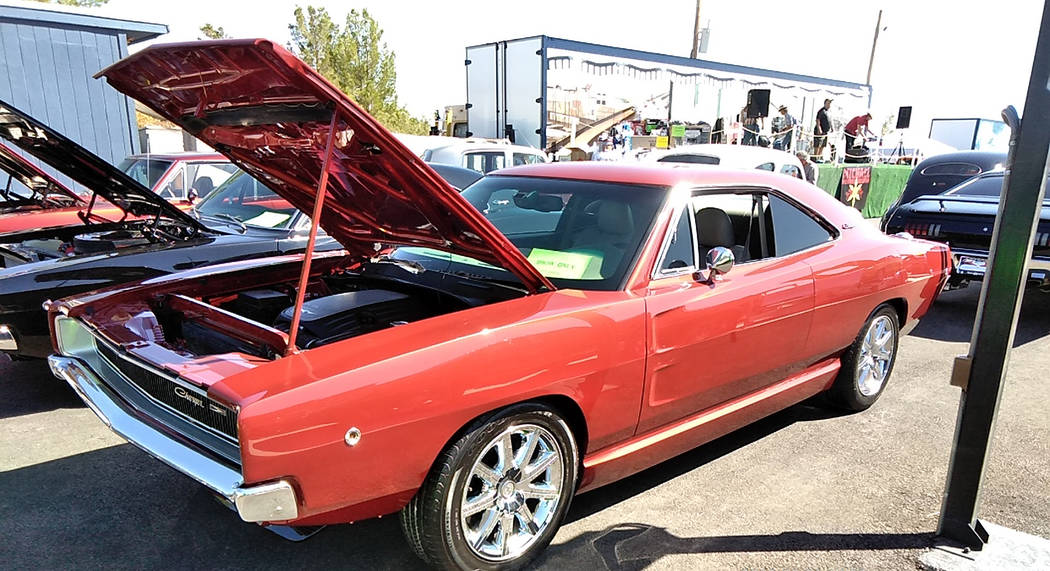 Selwyn Harris/Pahrump Valley Times Marcel Pontbriand modified this 1968 Dodge Charger with a Ch ...