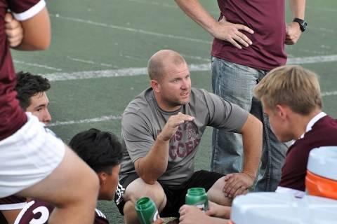 Horace Langford Jr./Pahrump Valley Times Pahrump Valley High School boys soccer coach Chris Rob ...