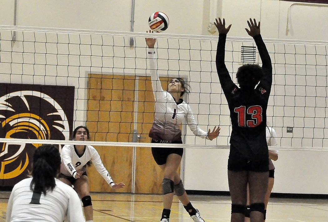 Horace Langford Jr./Pahrump Valley Times The Pahrump Valley High School girls volleyball team w ...