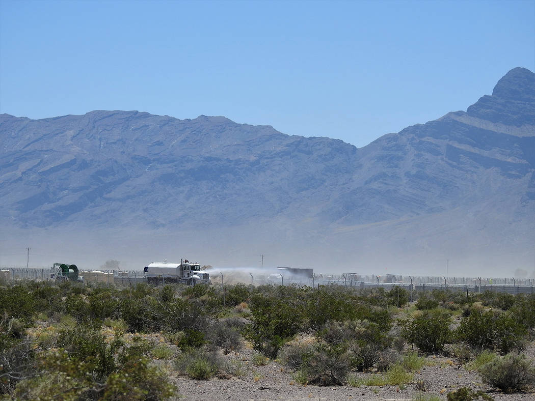 Kevin Emmerich/Basin and Range Watch The 100-megawatt Sunshine Valley is a photovoltaic project ...
