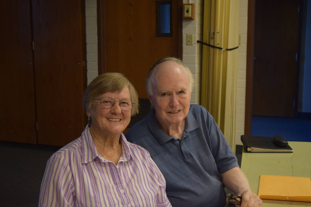 Kayla Noyes/Special to the Pahrump Valley Times Candy Hunt and Dave Green together in Pahrump. ...