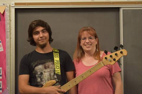 Kayla Noyes/Special to the Pahrump Valley Times James Wilson, bass player for the Pahrump Commu ...