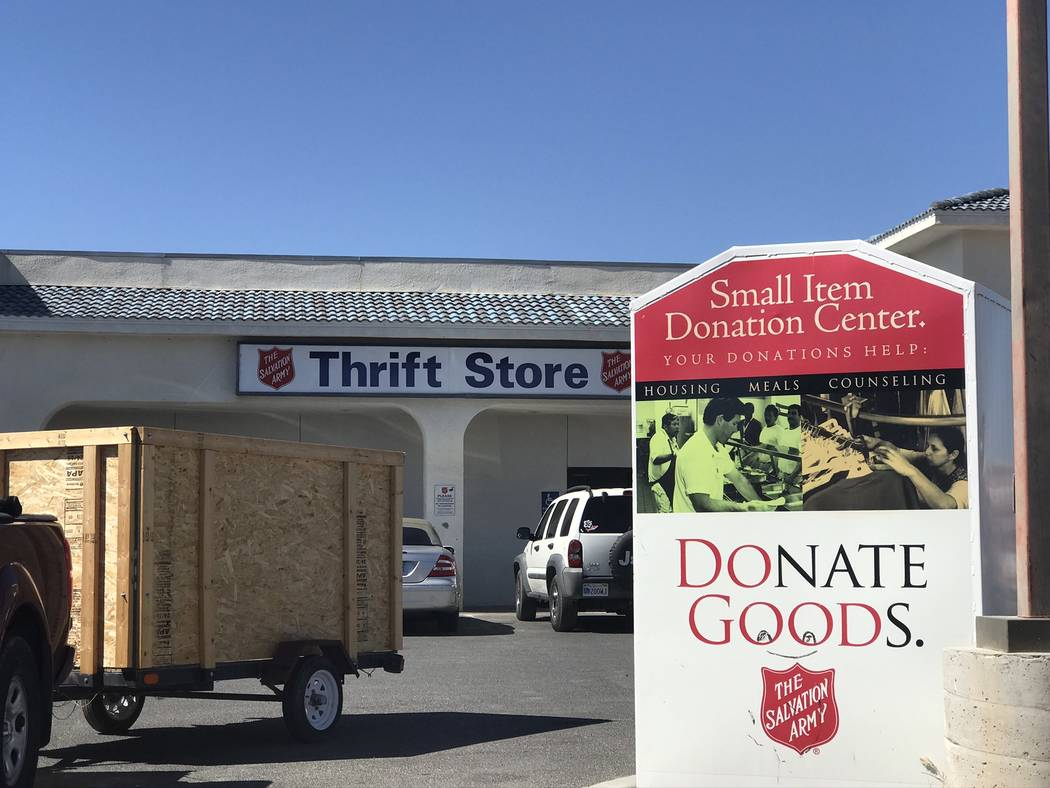 Jeffrey Meehan/Pahrump Valley Times The Salvation Army uses 82 cents of every dollar it collect ...